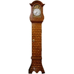 18th Century French Louis XV Marquetry Long Case Clock