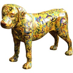 Whimsical Cloisonné Dog