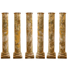 Rare Set of Six 18th Century Italian Doric Columns