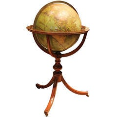 19th Century English Johnston's Terrestrial Globe