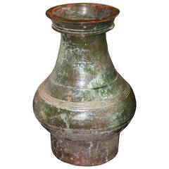 Chinese Han Dynasty Glazed Ceramic Urn