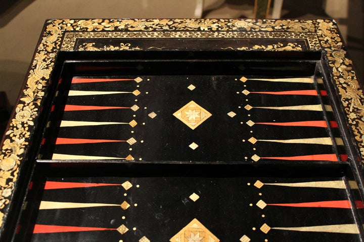 An English Regency Chinese Export Reversible Games And