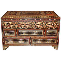 Unique and Palatially Scaled 19th Century Levantine Valuables Box