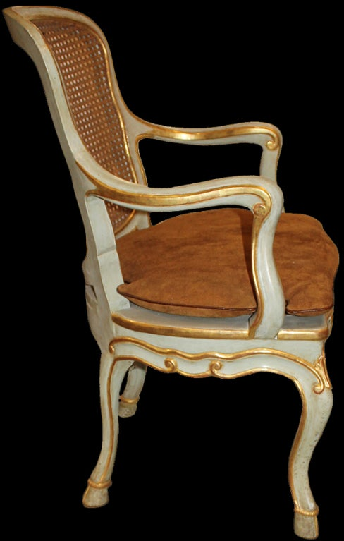 Harlequin Set of 12 Italian Louis XV Dining Armchairs and Side Chairs 2