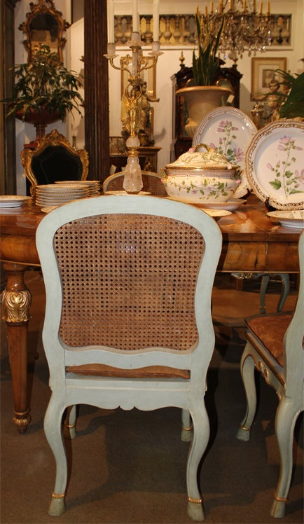 Harlequin Set of 12 Italian Louis XV Dining Armchairs and Side Chairs 5