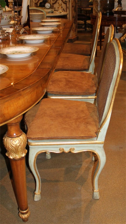 Harlequin Set of 12 Italian Louis XV Dining Armchairs and Side Chairs 6