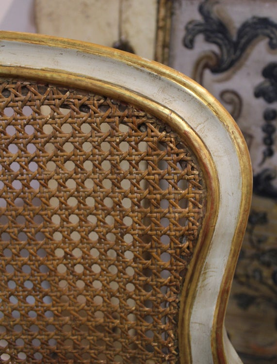 Harlequin Set of 12 Italian Louis XV Dining Armchairs and Side Chairs 9