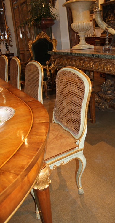 Harlequin Set of 12 Italian Louis XV Dining Armchairs and Side Chairs 8