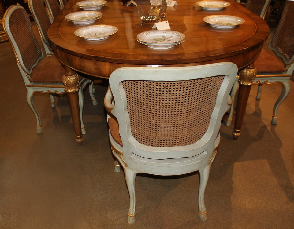 Harlequin Set of 12 Italian Louis XV Dining Armchairs and Side Chairs 7