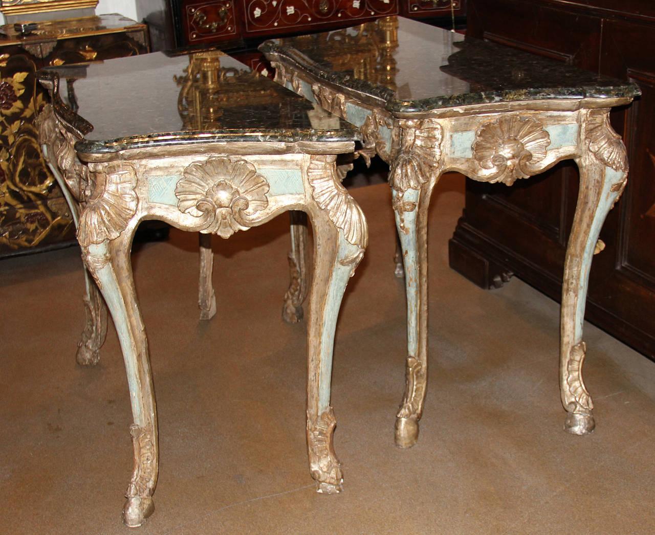 Pair of 18th Century Italian Rococo Mecca Silver Gilt and