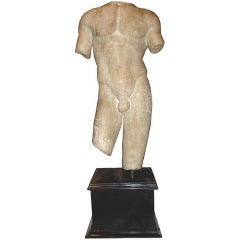 Large and Beautifully Sculpted First Century Ad Classical Roman Torso of an Athl