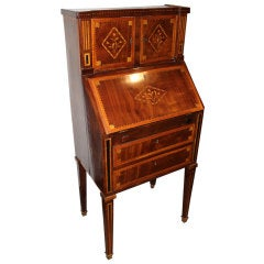 Child's 18th Century, Dutch Marquetry and Parquetry Secretaire