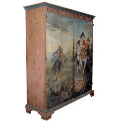 Unique 18th Century Polychrome Italian Provencal Armoire