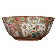 Chinese Porcelain Famille Rose Punch Bowl, 19th century