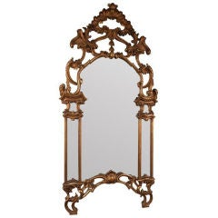 Huge French Gilt Over Mantel Mirror, Carved, 19th Century