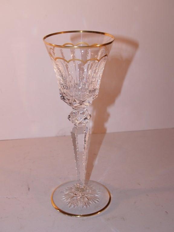 Important Set of St Louis Cut Crystal Stemware, 20th Century 1