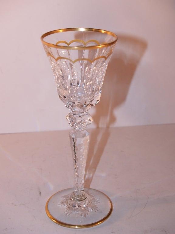 Important Set of St Louis Cut Crystal Stemware, 20th Century 3