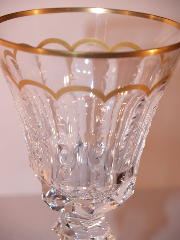Important Set of St Louis Cut Crystal Stemware, 20th Century 4