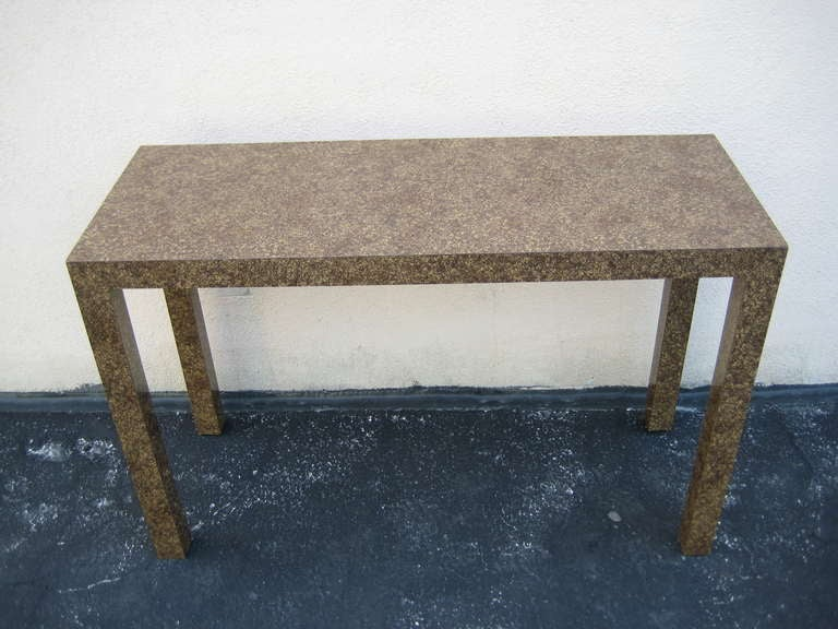 Mid-Century Modern 1970s Parsons Table, Console or Desk For Sale