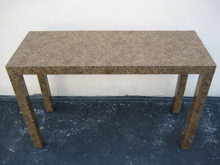 American 1970s Parsons Table, Console or Desk For Sale