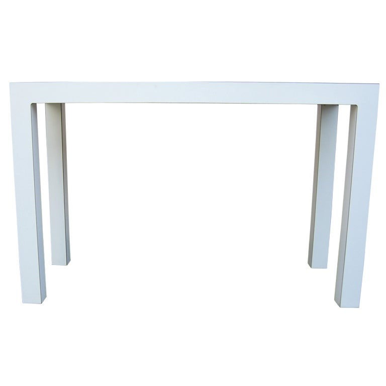 1970s White Parsons Table Or Desk For