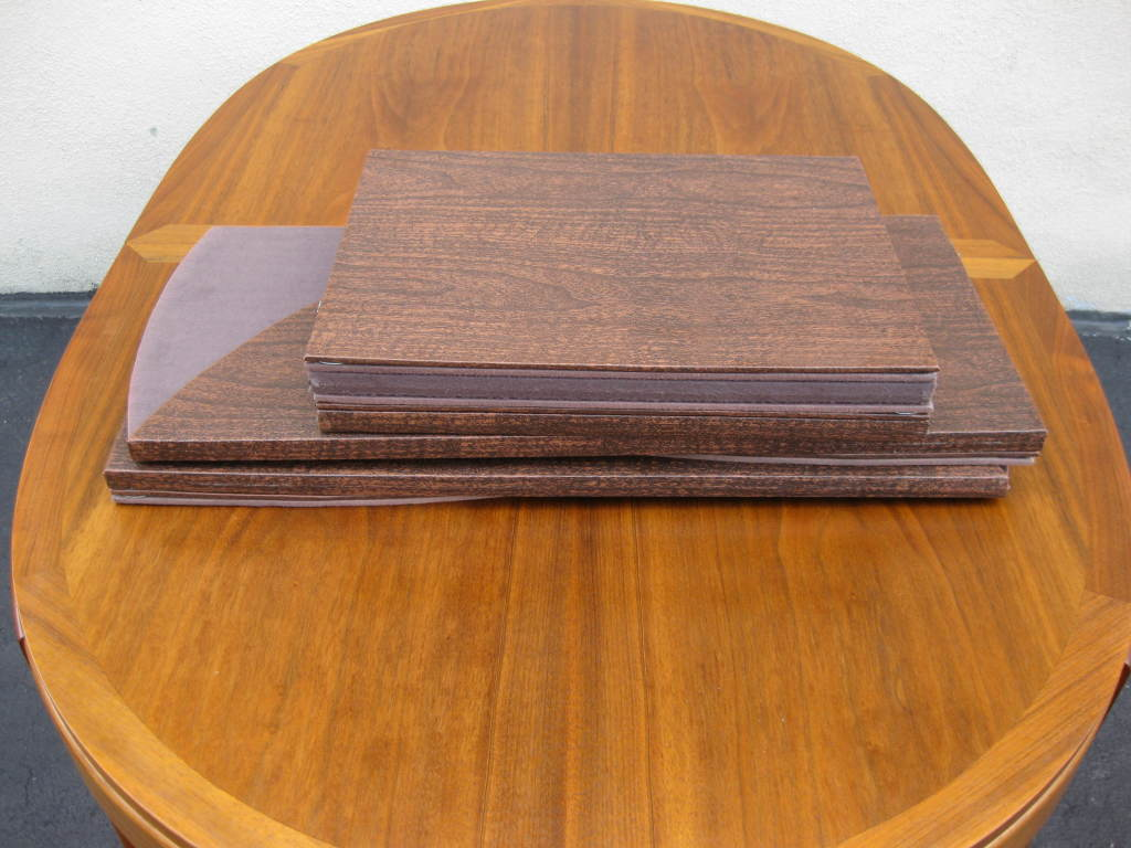 Walnut Dining Table by LANE 2 leaves to seat 4 - 8 5
