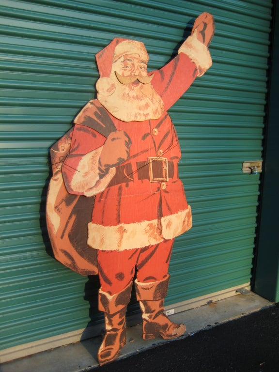 1940s Large Life Size Santa Claus Christmas Decoration