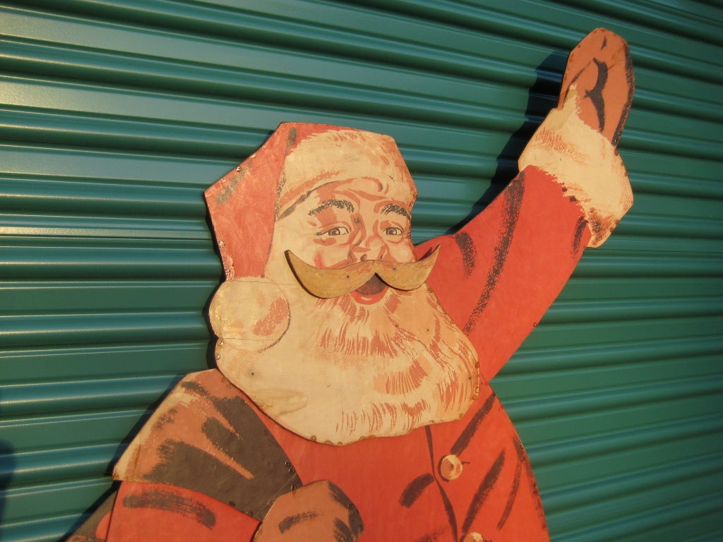 1940s Large Life Size Santa Claus Christmas Decoration Display image 3