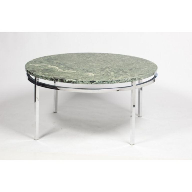 Marble And Chrome Coffee Table: Round Marble And Chrome Coffee Table, 1969 At 1stdibs