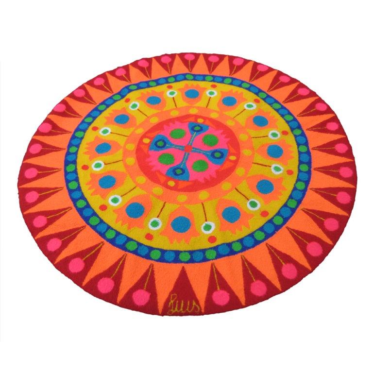 Op Art Luis Montiel Tapestry Rug, circa 1960s