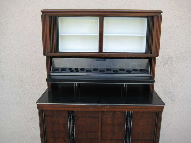 art deco apothecary medical dental cabinet for sale at 1stdibs. Black Bedroom Furniture Sets. Home Design Ideas