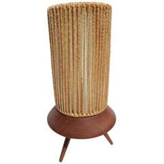 1960s Small Teak Table Lamp