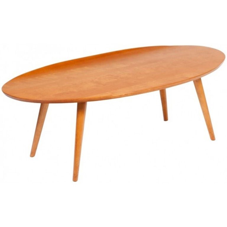 1950s Russel Wright For Conant Ball Surfboard Coffee Table 1