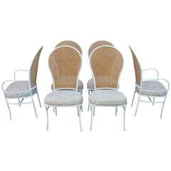 Rare Set of 6 Milo Baughman for Thayer Coggin Cane Back Chairs, 1976
