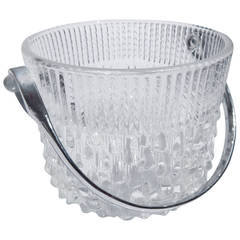 1960s Glass Ice Bucket, France