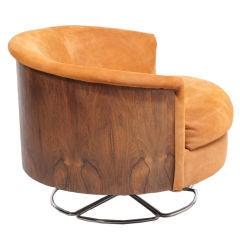 Selig Barrel Back Swivel Club Chair, Denmark