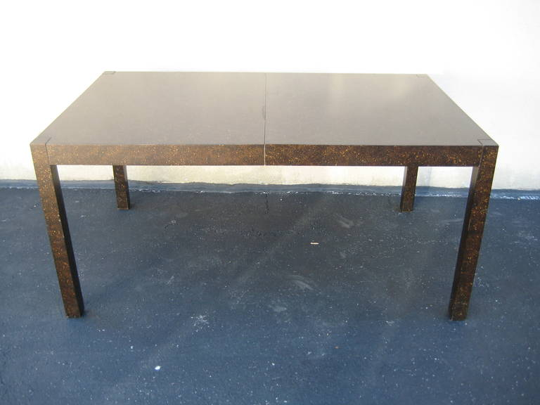 1960s Drexel Oil Drop Parsons Dining Table With Two Leaves
