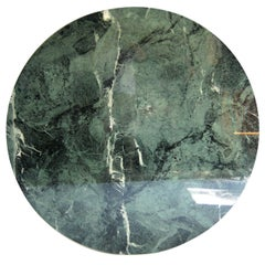 Italian Round Green Marble Table Top