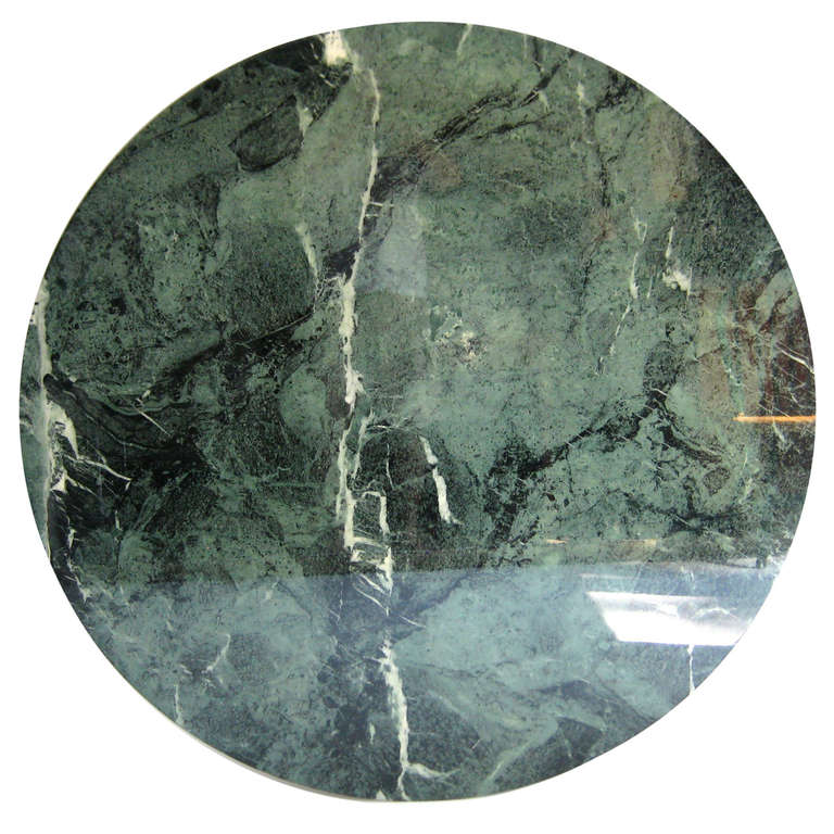 Italian Round Green Marble Table Top At 1stdibs