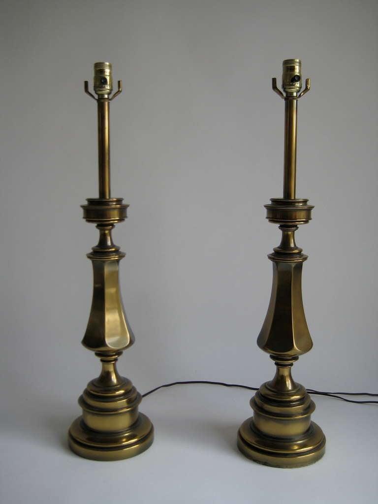 Pair Of Brass Stiffel Lamps At 1stdibs