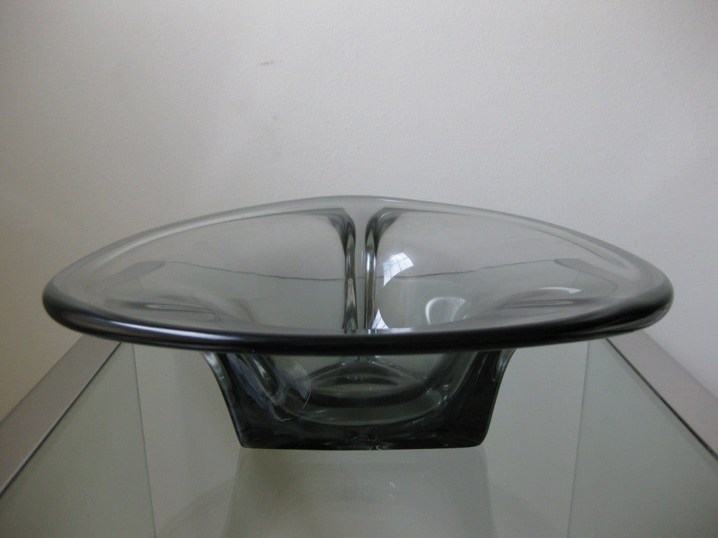 1930s Kosta Boda, Elis Bergh, Art Deco Glass Bowl at 1stdibs