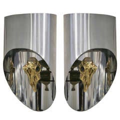 Maria Pergay, an Exceptional Pair of Sconces