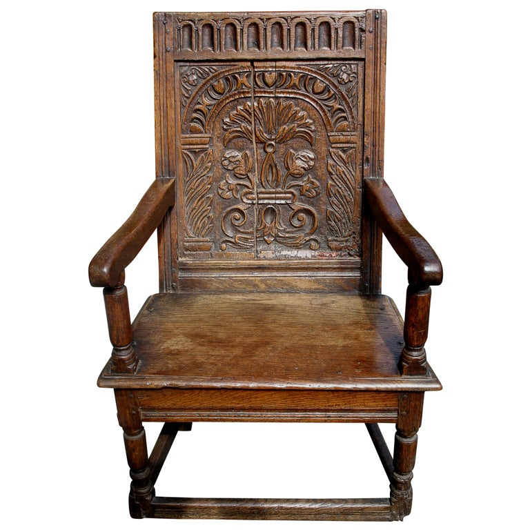 18th Century English Wainscot Chair At 1stdibs