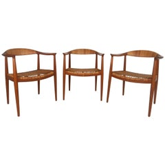 "Mid-Century Modern Matching Set of ""The Round Chair"" by Hans J. Wegner"