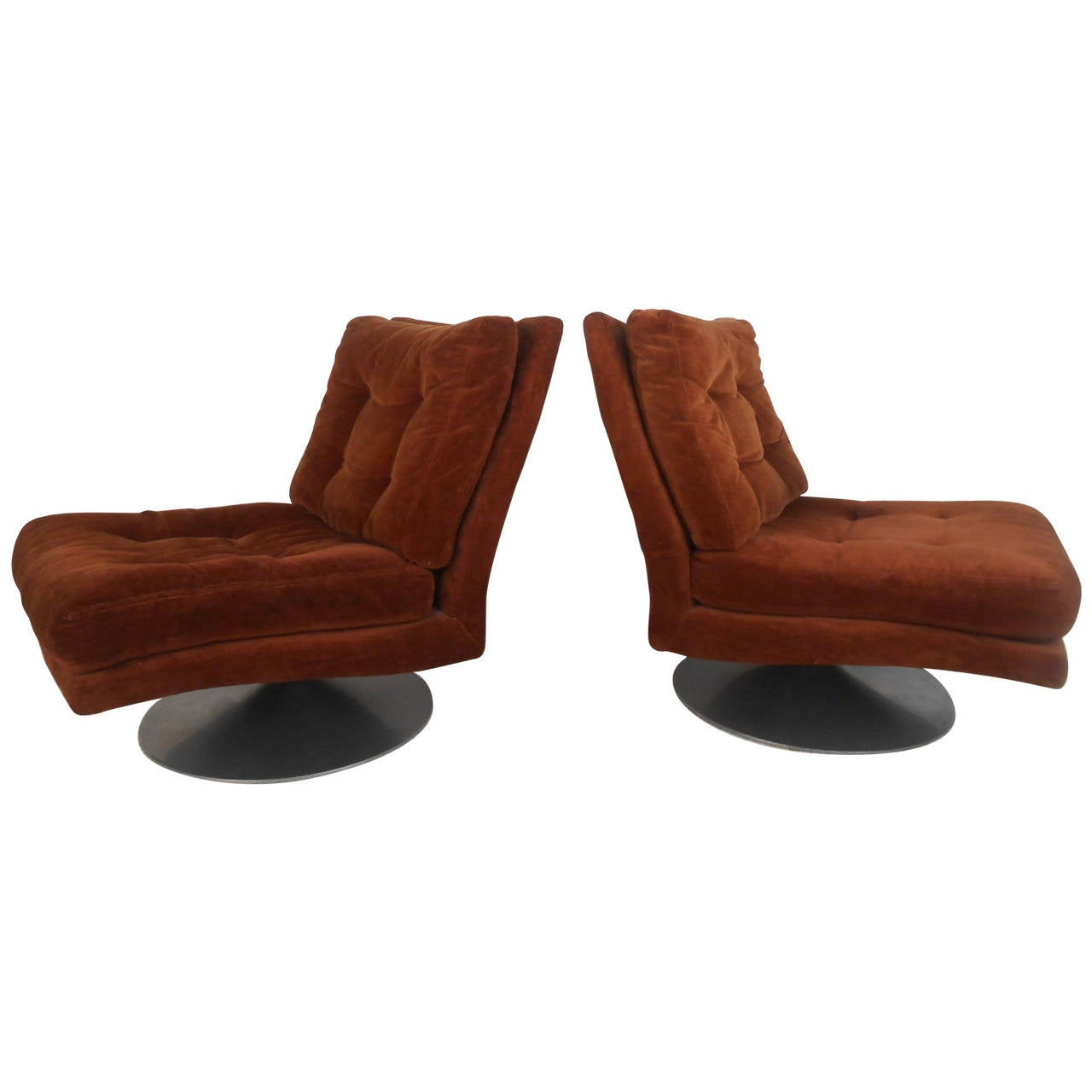 Milo Baughman Lounge Chairs for Thayer Coggin For Sale