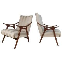 Sculptural Vintage Modern Armchairs