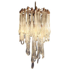 Magnificent Drip Glass Chandelier by Zero Quattro