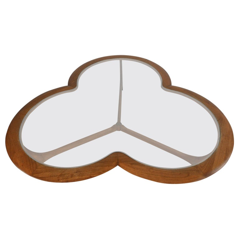 Midcentury Clover Leaf Coffee Table by Lane For Sale