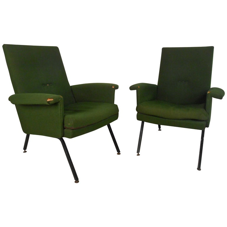 Vintage Italian Modern Lounge Chairs For Sale