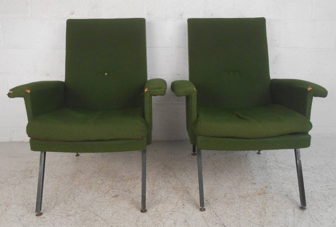 Unknown Vintage Italian Modern Lounge Chairs For Sale